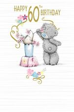 Birthday Card - 60th Birthday - Teddy With Flowers - Me To You (A48)