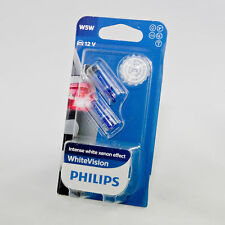 New W5W Genuine Philips Bulbs 12V white Vision intense White xenon effect