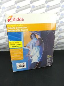 """KIDDE - (25"""") 3 Floor Escape Ladder - Fully Assembled, Attaches to Window (NEW)"""