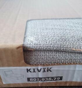 Original SLIPCOVER for KIVIK Chaise, Teno Light Grey, NEW