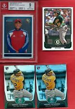 Yoenis Cespedes RC's (4) New York Mets Bowman Cards 2009 Japan BGS Mint included
