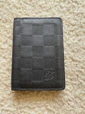 Louis Vuitton Damier Infini Leather Pocket Organizer Card Holder Black