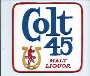 Colt 45 Malt Lager patch jacket size 6-5/8 X 6-5/8