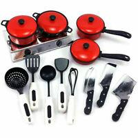 13 Stück/Set Küchenset Kinderküche Kochgeschirr Kindergeschirr Kinder Suppl E5Y0