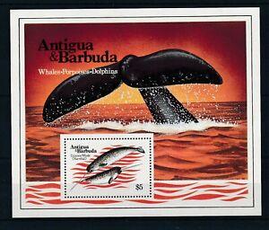 [337081] Antigua Barbuda whale good very fine MNH sheet