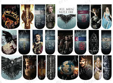 24 WATER SLIDE NAIL ART DECALS * GAME OF THRONES * FULL NAIL COVERS  / WRAPS