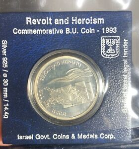 Revolt And Heroism 1993 Israel Coin Silver