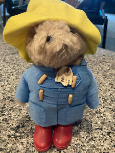 Paddington Bear Vintage 1972 Collectible Plush With Yellow Hat Red Boots