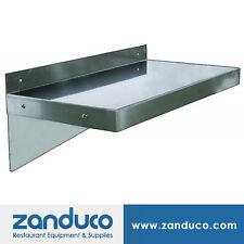 "Zanduco Stainless Steel Wall Shelf 12"" x 36"" NSF"
