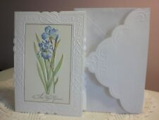 Carol's Rose Garden - Blank - Two Blue Iris on the front