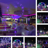 Huge 20cmLED Balloon Round Bubble Helium Balloons String Lights Party Decoration