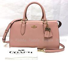 Coach x Selena Gomez 39290 BOND Bag Leather Satchel 2-Way Purse PEONY Pink NWT