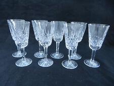 "Set of 8 Vintage Waterford Crystal Lismore Sherry Glasses, 5 1/8""H"
