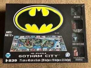 BATMAN 4D Puzzle - GOTHAM CITY - 839 Pieces Open But Still In Plastic