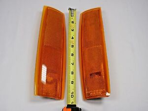 SIDE MARKER LIGHT Pair GMC 1988-1993 Pickup SIERRA C1500 1992-93 Suburban Yukon