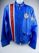 Vintage 1970's Pepsi Cola Blue Striped Racing Jacket Men's Xl Condition