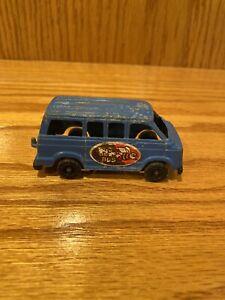 "1978 Tootsietoy 3.5"" Blue Dodge Van Buzy Bee Bus - USA"