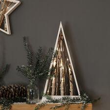 10 Batería de interior LED Decoración de madera Nordic Ramita Star 55CM luz de cadena de hadas