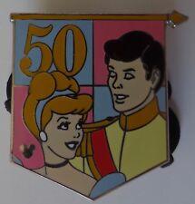 Disney Pin Dlr Cast Lanyard Series 4 50th Banner Princess Cinderella and Prince