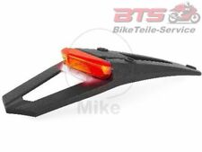 MOTORCYCLE Fender/GUARD PLATE Extension LED REAR BLACK SCOOTER schutzblec