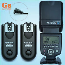 Yongnuo YN-560 IV Flash Speedlite + RF-603II Trigger C3 for Canon 5D 1D 50D