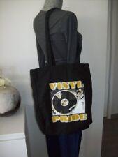 sac bandoulière épaule VINYL PRIDE noir cabas tissus toile noir