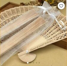 50 Personalised Wedding Fans - Wedding Favours