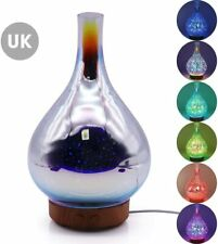 Glass Aromatherapy Ultrasonic Cool Mist Ultra Quiet Aroma Essential Oil Diffuser