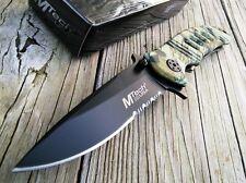 "7"" MTECH USA TACTICAL TANTO MANUAL LADIES TACTICAL DEFENSE KNIFE Blade Pocket"