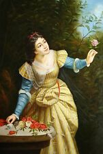 "Replica  Oil Painting  - Girl in Garden - size 24""x36 """