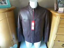 HUGO BOSS. LAUDIN LUXURY LEATHER JACKET NEW WITH TAGS