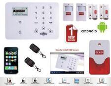 WIRELESS LCD RFID GSM AUTO DIAL HOME HOUSE OFC SECURITY BURGLAR INTRUDER ALARM