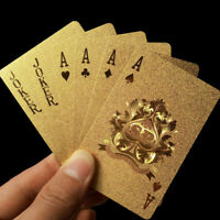 Gold Foil Glitter Playing Cards Magic Plastic Waterproof Cards Games Relax Tool