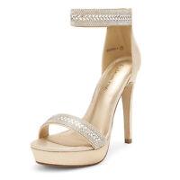 DREAM PAIRS Women's Stilettos High Heel Sandals Ankle Strap Open Toe Pump Shoes