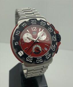 TAG HEUER CHRONOGRAPH, 41 mm Red Swiss Quartz Watch