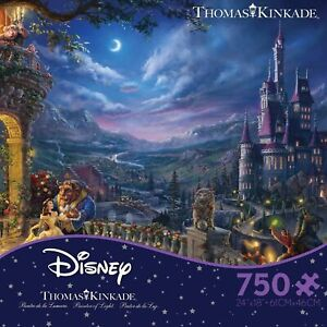 Thomas Kinkade Studios Beauty and the Beast Dancing 750 Piece Ceaco Puzzle