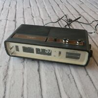 Vintage 1971 Panasonic RC-6551 Flip Clock Alarm Radio Mid Century Working