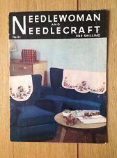 VINTAGE NEEDLEWOMAN e Needlecraft Rivista. GENNAIO 1955. nº 61