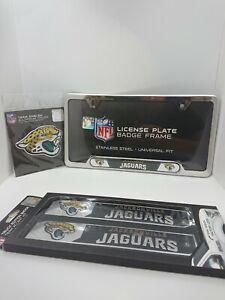 NFL Jacksonville Jaguars Official 3pc Truck Emblem Kit -License Plate Accent Kit