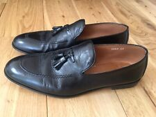 DOUCAL'S Loafers Men's Moccasin Leather Black Shoes Slip On - Handmade