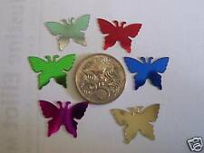 12 mixed colours METALLIC BUTTERFLY embellishments