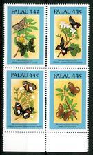 PALAU - 1987 - Flora e fauna. Farfalle e fiori (I) -