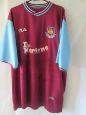 West Ham United 2003-2004 Squad Signed Home Football Shirt COA /10952