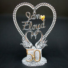 50th Fiftieth Personalized Anniversary Wedding Cake Top
