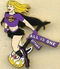 Hard Rock Cafe OTTAWA 2007 Sexy Super Hero Girl PIN #3/4 - HRC Catalog #38423