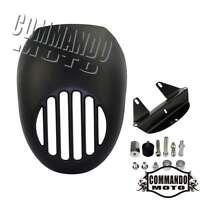 Black Grill Headlight Head Fairing Mask Visor For Harley Sportster DYNA FXR FXRS