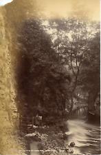 Angleterre, ok the wye at ghee tor, Derbyshire Vintage albumen print Tirage al