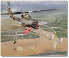Snake Attack by Jim Laurier - Limited Edition Giclee - Cobra Gunship - Aviation