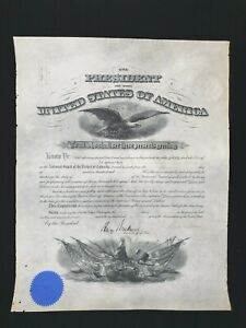 US President Woodrow Wilson Signed Commission Document Military Appointment WWII