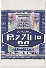 Advertising - Etichetta pubblicitaria Acqua minerale naturale Sorgente Pozzillo